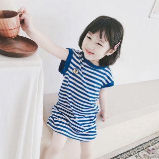 Váy bé gái 🤗🤗💢💢 váy cotton cho bé gái🌈🌈🌈 váy dáng suông họa tiết kẻ ngang cho bé gái
