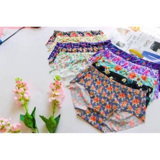 Combo 5 quần lót nữ su hoa nhí màu