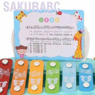 Sakurabc Baby Kid Manual Musical Instrument Toy Piano Early Educational Toys