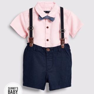 Set yếm quần + áo + nơ thumbnail
