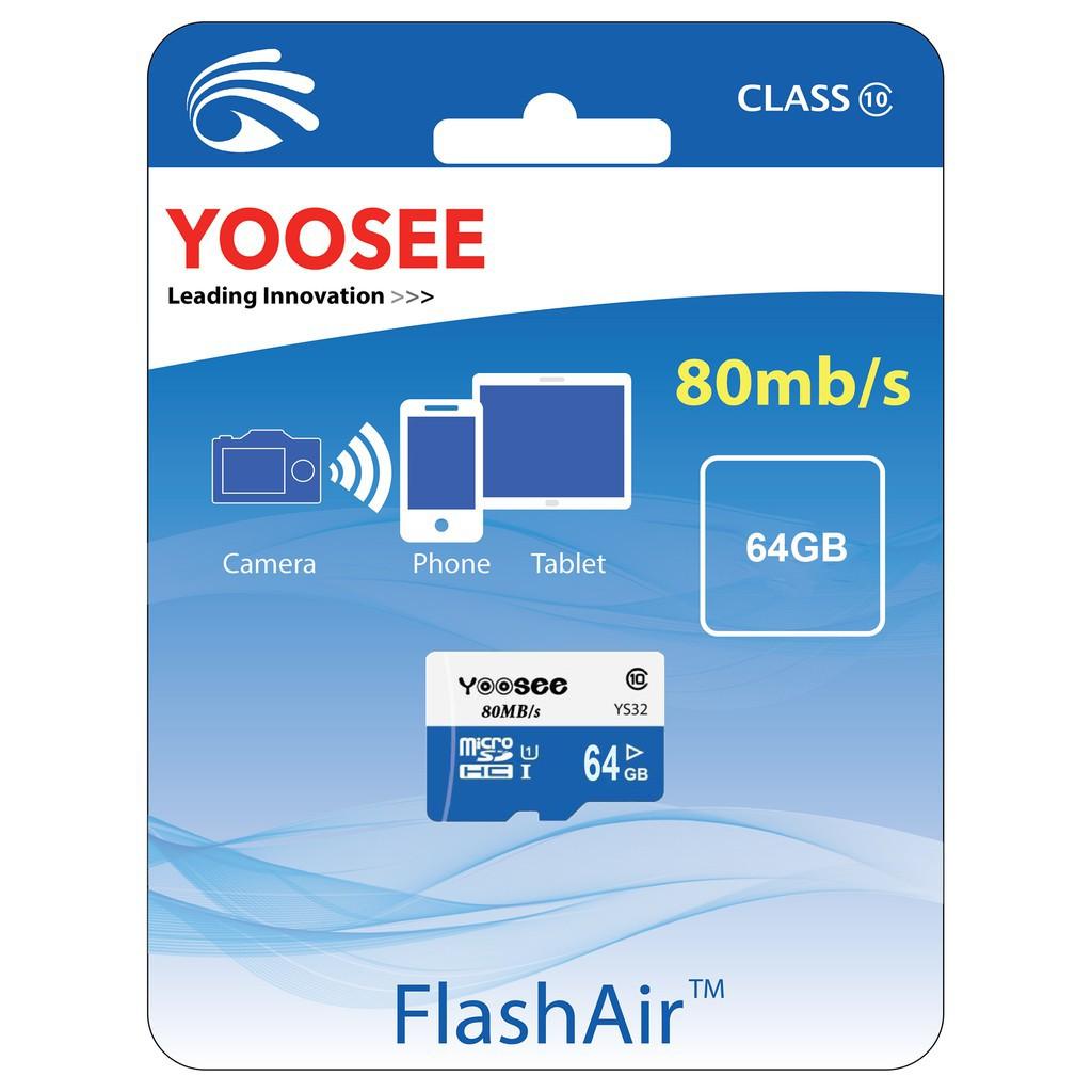 Thẻ Nhớ Camera Yoosee 64GB - Tốc Độ Đọc Class 10