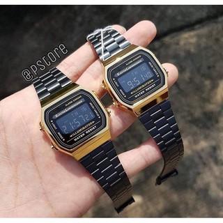 Đồng hồ nam A168 cổ điển, chống nước, dây thép không gỉ, lịch sự, trang trọng + TẶNG KÈM HỘP THIẾC thumbnail