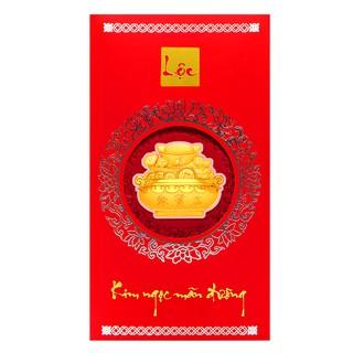 Mặt vàng 24K Kim Ngọc Mãn Đường tài lộc đính kèm Bao lì xì - ANCARAT - BLX01