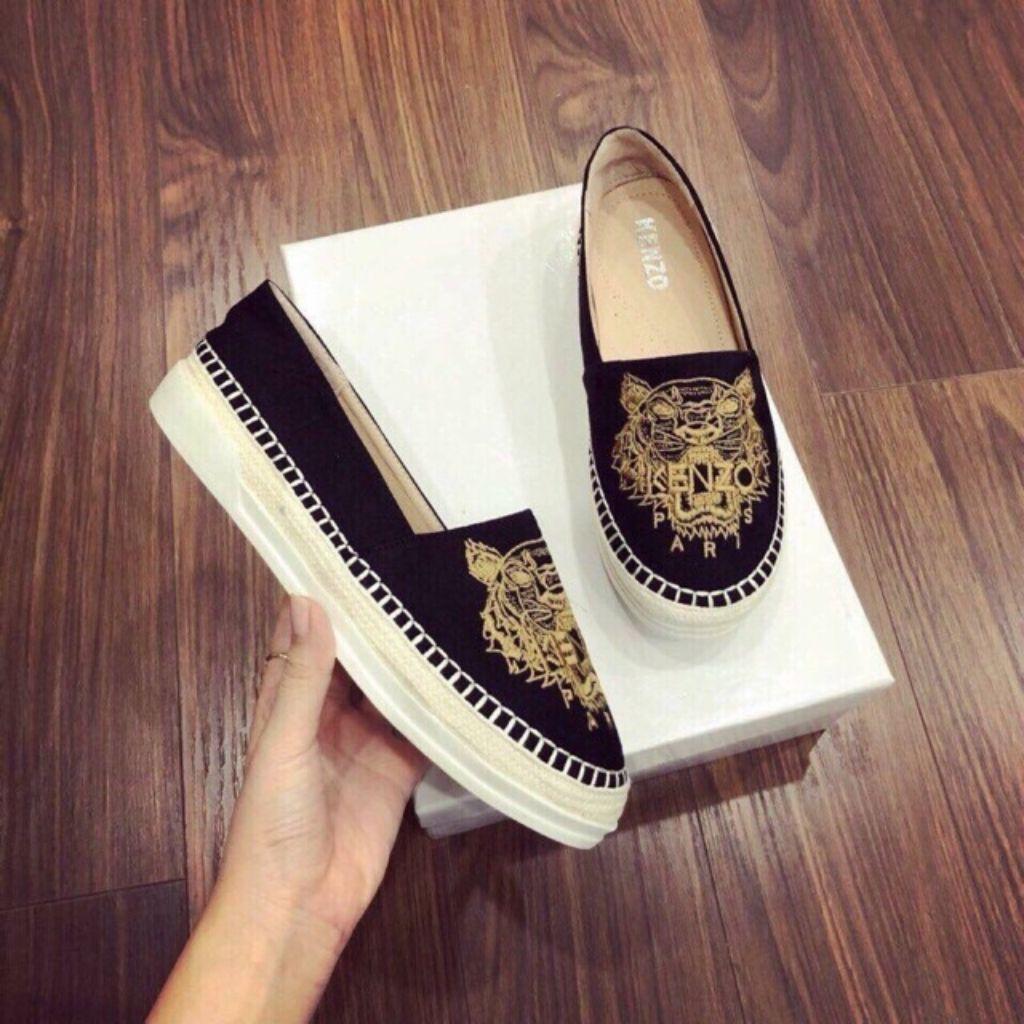 [FREESHIP - HÀNG LOẠI ĐẸP] Giày Slipon Nữ Da Mềm Thêu Họa Tiết Siêu Hót - Giày Lười Nữ - [ Ảnh Chụp Thật]