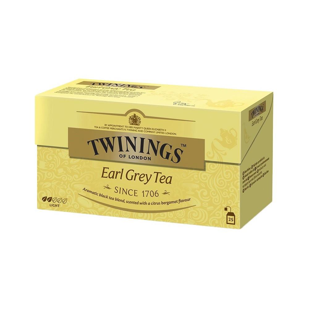 TRÀ TÚI LỌC TWININGS EARL GREY 25 gói x 1g - Trà đen hương vị bergamot    Shopee Việt Nam
