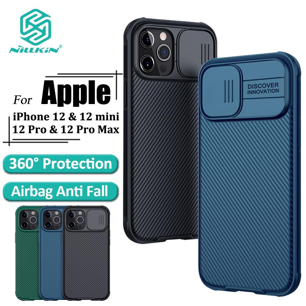 Ốp điện thoại NILLKIN kết hợp miếng bảo vệ camera sau chuyên dụng cho iPhone 12 Pro / 12 Pro Max / 12 Mini / 11 / 11 Pro / 11 Pro Max