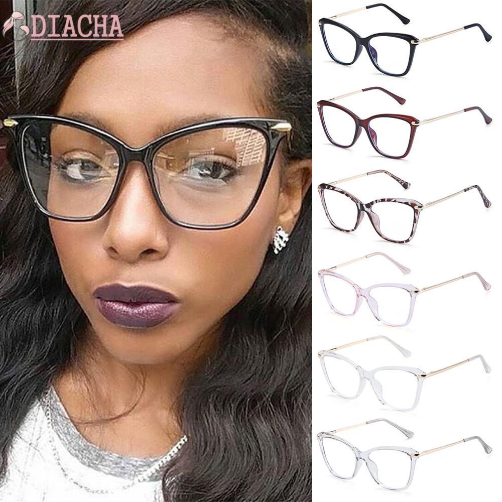DIACHA Fashion Computer Glasses Non-Prescription Eyeglasses Blue Light Blocking Glasses Women & Men Reading Gaming Glasses Square Frame Anti Eye...