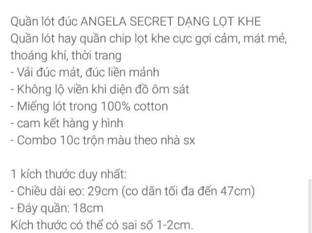 Quần lót đúc lọt khe pha ren combo 10 quần | BigBuy360