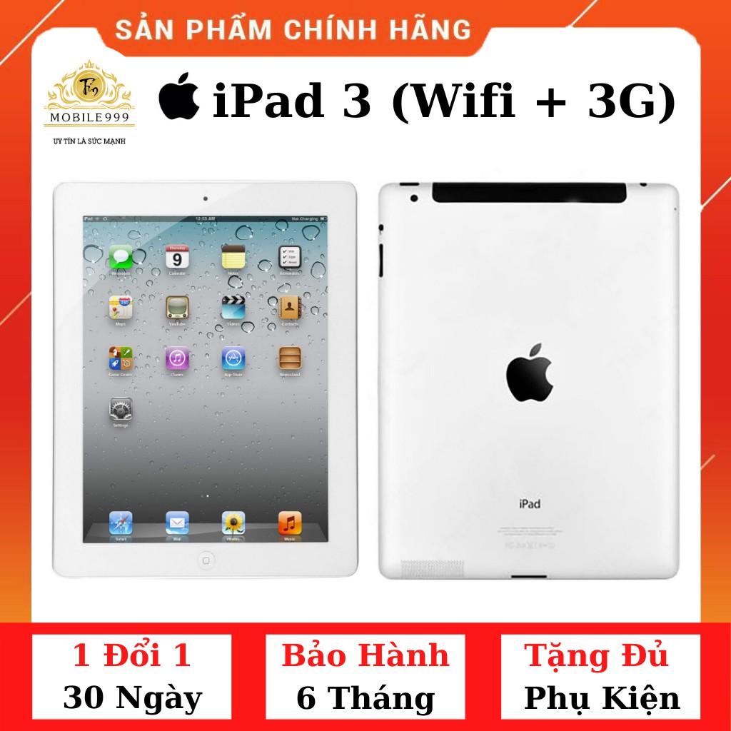 Máy Tính Bảng iPad 3 (Wifi + 3G) 16G /32G /64GB Chính Hãng - Zin Đẹp 99% - Màn Rentina siêu đẹp - Pin trâu - MOBILE999