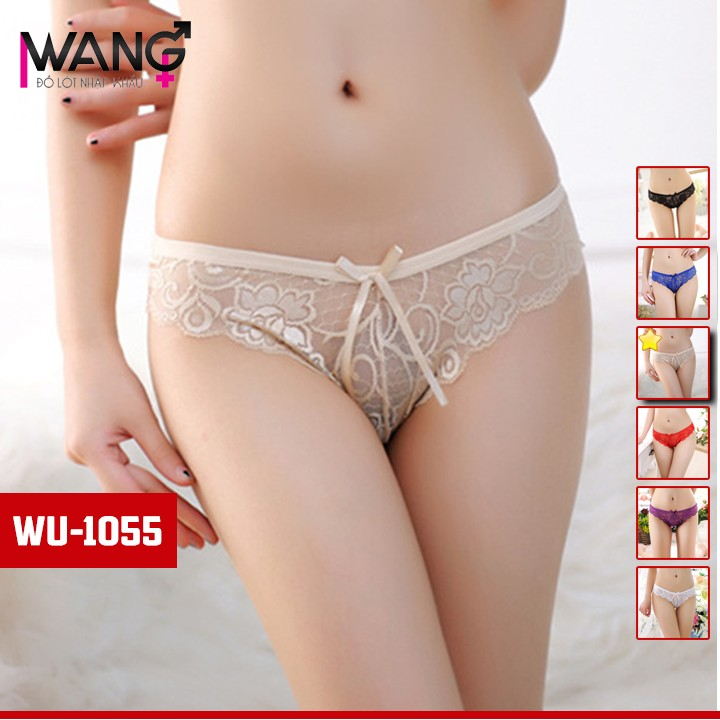 [SẴN HÀNG - CHUẨN HÌNH] Quần chip ren nữ xuyên thấu sexy - quần lót chip nữ gợi cảm WQ1505