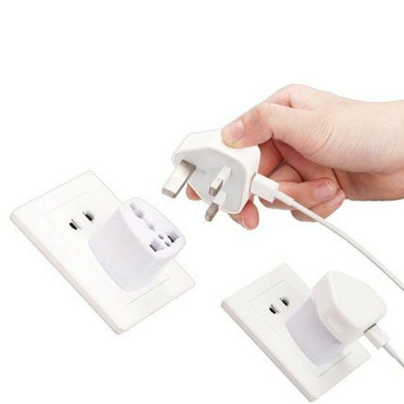 Phích cắm điện chuyển đổi 3 chấu thành 2 chấu - Ổ cắm chuyển đổi 3 chân sang 2 chân