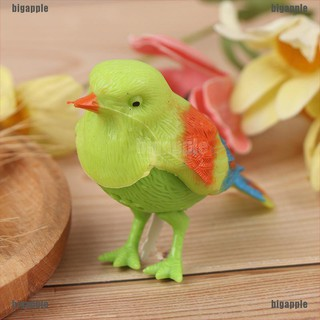 [bigapple]Voice Control Music Bird Toy Simulation Cute Sing Song Bird Toy Cage Decoration adore