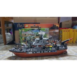 Đồ chơi lắp ráp Lego siêu tàu chiến COBI MOC (used)