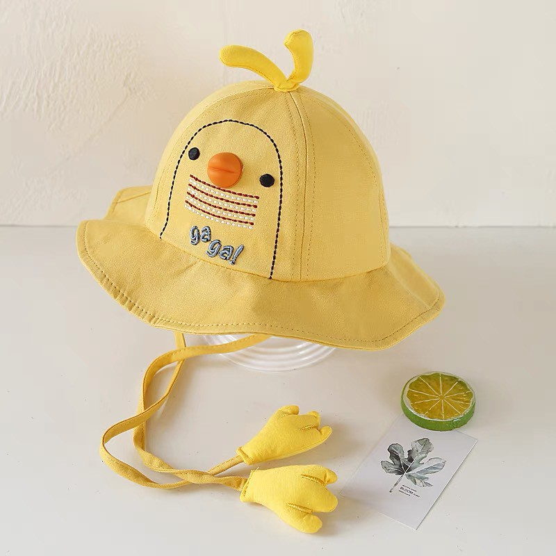 Mũ Cho Bé Trai Bé Gái , Nón Trẻ Em Rộng Vành Có Dây Từ Sơ Sinh đến 3 Tuổi Kamili Shop Chất Thô Mềm MTE3