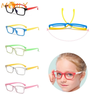 MOILY Boys Girls Fashion Kids Goggles Anti-blue Rays Silicone Eyewear Anti-blue Light Glasses Vision Care Ultralight Soft Frame Radiation Protection Children Eyeglasses