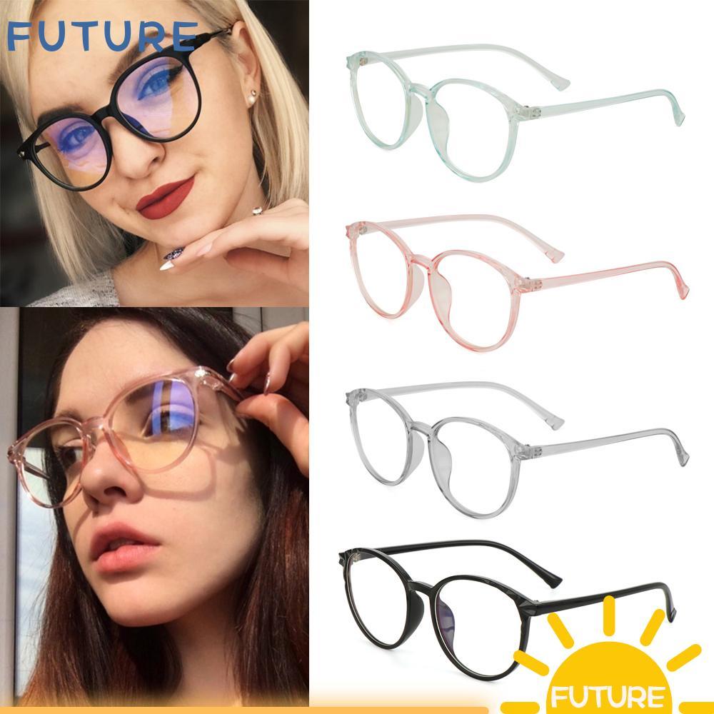 🎈FUTURE🎈 Clear Lens Reduces Eye Strain Transparent Round Frame Ultralight High-definition Optical Eye Glasses