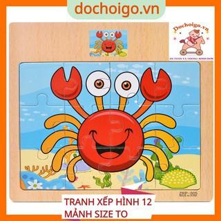 Đồ chơi tranh ghép hình 12 mảnh cho bé, đồ chơi xếp hình phát triển trí tuệ dochoigo.vn