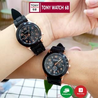 Đồng hồ cặp đôi nam nữ Geneva dây cao su mặt kính cong độc đáo chính hãng Tony Watch 68 thumbnail