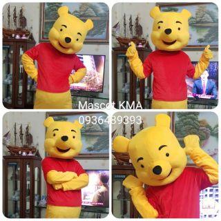 Quần áo hoá trang Mascot Gấu Pooh – sinh nhật, sự kiện