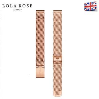 Dây đồng hồ kim loại 10mm Lola Rose dạng thép lưới vàng siêu bền chốt cài chắc chắn thumbnail