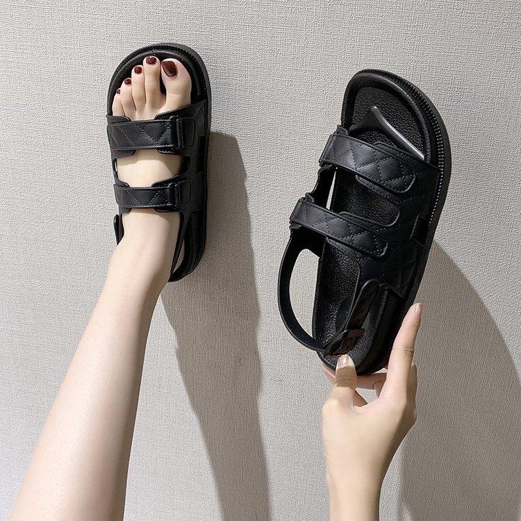 Quai hậu, sandal đế bằng, thiết kế thanh lịch chất cao su mềm, đủ size mã BT94