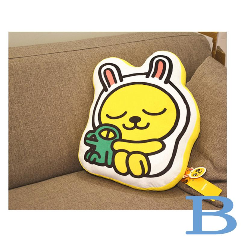 PP cotton + Short plush Cute Cartoon Bantal Sofa Desain Kartun Kakao Friends Ryan Lion