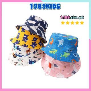 Mũ vành cho bé trai bé gái từ 1 tuổi đến 7 tuổi họa tiết mùa hè đáng yêu xinh xắn MV01