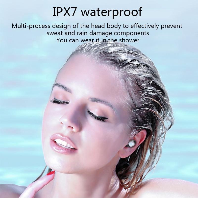 Topewon Tai Nghe Bluetooth F9 Ipx7 Không Dây Chống Thấm Nước Với Dung Lượng 2000mah Cao Cấp