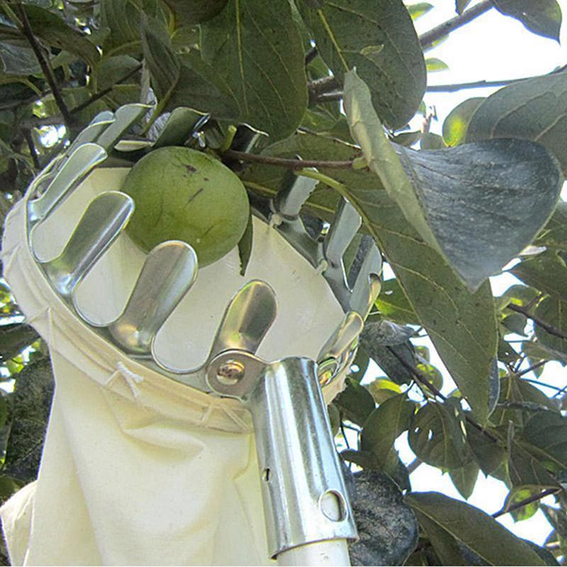 【BB】Metal Fruit Picker Orchard Fabric Convenient Gardening High Tree Picking Tools【VN】