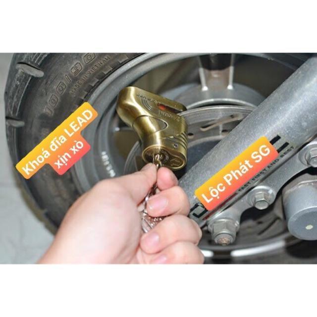 KHOÁ ĐĨA XE LEAD/VEISION/ VIỆT TIỆP DISK LOCK - An toàn cho xe, tiện lợi