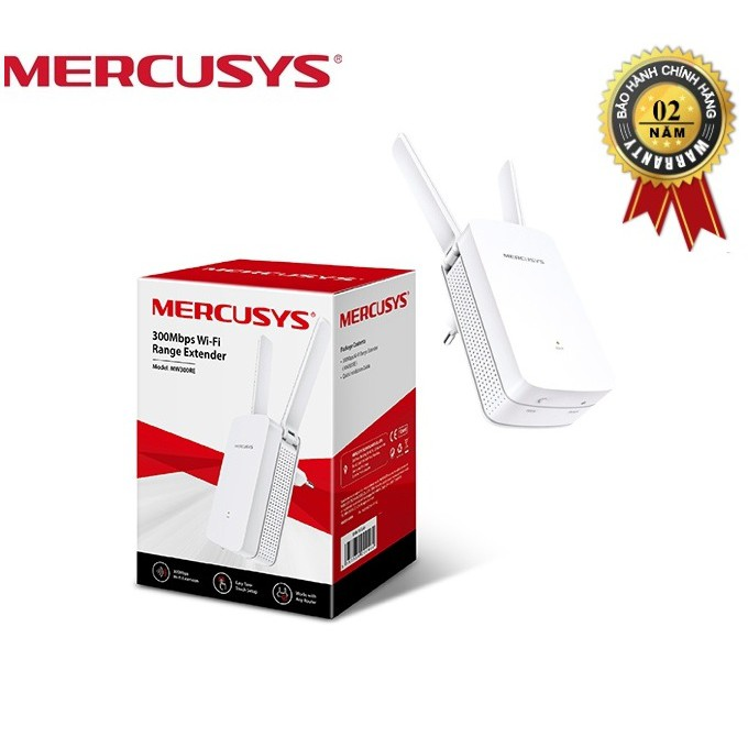 Bộ kích sóng wifi tốc độ 300Mbps Mercusys MW300RE - Hãng Phân Phối Chính Thức