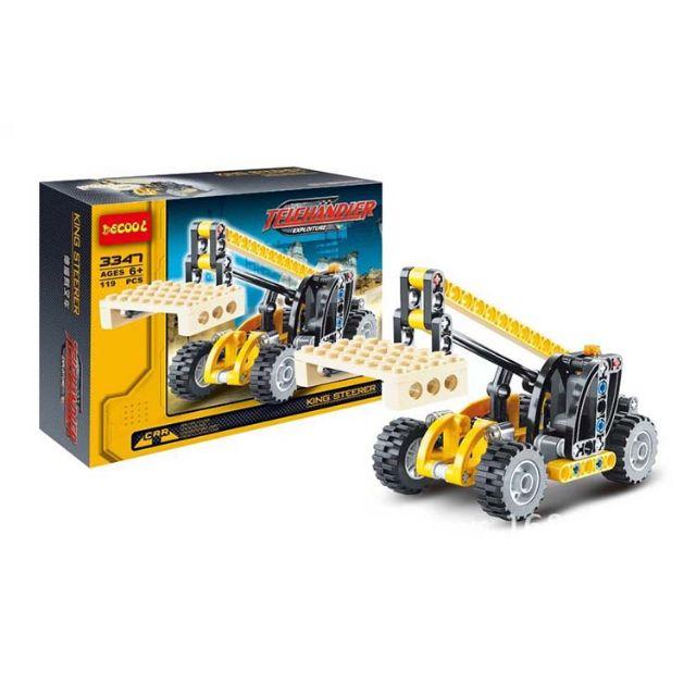 Bộ lắp ráp Lego Decool 3347 Telehandler - 119 chi tiết