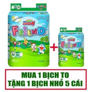 [CỘNG MIẾNG] BỈM/TÃ QUẦN GOON FRIEND TẶNG BỊCH Mini ĐỦ SIZE S62+5/M58+5/L48+5/XL42+5/XXL34+5