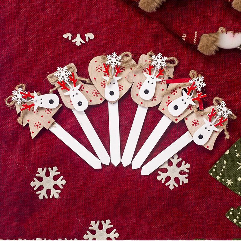 คริสมาสต์การตกแต่งคริสต์มาสเค้กวันเกิด topper snowflake elk หัวหน้า