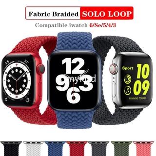 Dây Đồng Hồ Bện Vải Nylon Co Giãn Giãn Cho Apple Watch Seri 6 5 4 3 Se 2 1 40mm 38mm 42mm 44mm thumbnail