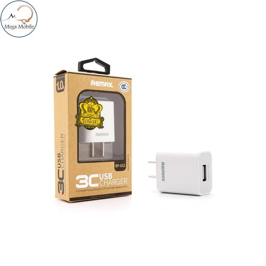 Củ sạc siêu nhỏ gọn Remax RP-U12 - Hỗ Trợ Sạc iPhone/Android 5V/1A - Chip ổn định dòng - Chính Hãng - 3516526 , 879662368 , 322_879662368 , 55000 , Cu-sac-sieu-nho-gon-Remax-RP-U12-Ho-Tro-Sac-iPhone-Android-5V-1A-Chip-on-dinh-dong-Chinh-Hang-322_879662368 , shopee.vn , Củ sạc siêu nhỏ gọn Remax RP-U12 - Hỗ Trợ Sạc iPhone/Android 5V/1A - Chip ổn định