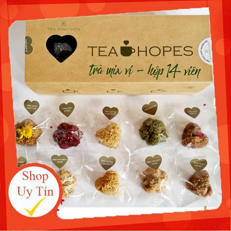 Tea Hopes - Trà viên hoa thảo mộc mix 8 vị - 190g