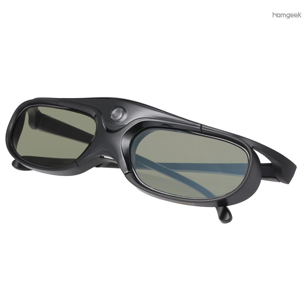 H&G GL2100 Projector 3D Glasses Active Shutter Rechargeable DLP-Link for All 3D DLP Projectors Optama Acer BenQ ViewSonic Sharp Dell