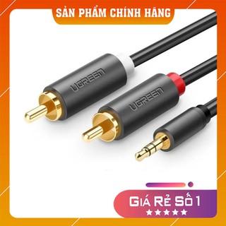 Cáp âm thanh 3.5mm sang 2 đầu bông sen RCA màu đen 10514 10516 10513 10512 10510 10511 10772 40423 AV116