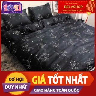 Ga giường,ga bọc đệm,Drap ga trải giường mẫu cung hoàng đạo màu đen