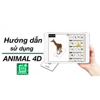 BỘ THẺ HỌC ANIMAL 4D CHO BÉ