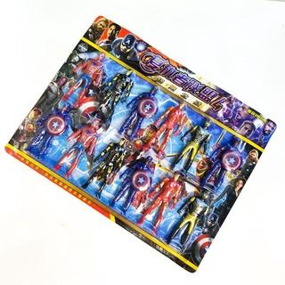 VỈ 12 SIÊU NHÂN Đồ Chơi Biệt Đội Siêu Anh Hùng. Siêu nhân. Đồ chơi Siêu nhân, người nhện, Ironmen, Catain... thumbnail