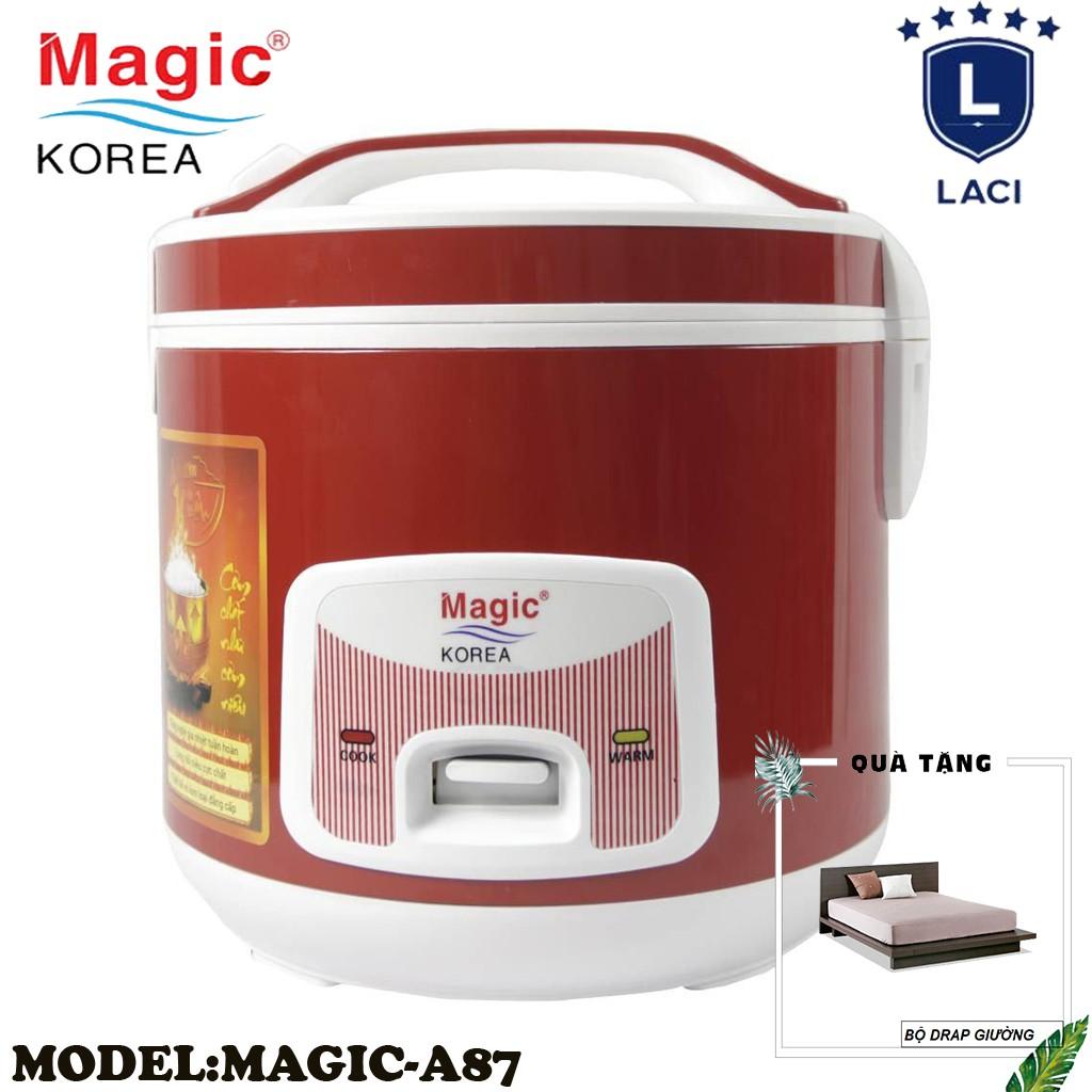 Nồi cơm điện lòng niêu Magic Korea A87 | Dung Tích 2L | Công Suất 700W | Tặng Bộ Drap