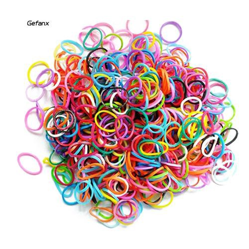 GEFX❤100 Pcs Mixed Color Rubber Bands Girls Pet Dog DIY Hair Grooming Accessories