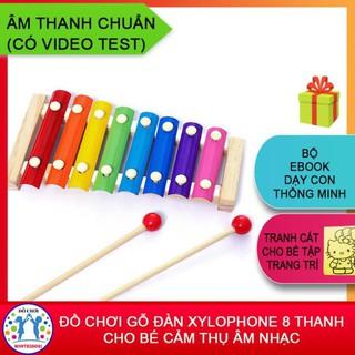 Đồ chơi gỗ ☘️ [HÀNG LOẠI 1] Đồ Chơi Gõ Đàn Xylophone 8 Thanh Cho Bé Cảm Thụ Âm Nhạc