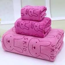 Sét 3 khăn tắm KIBA Thái Lan 1M siêu thấm ( 3 khăn với 3 kích thước)