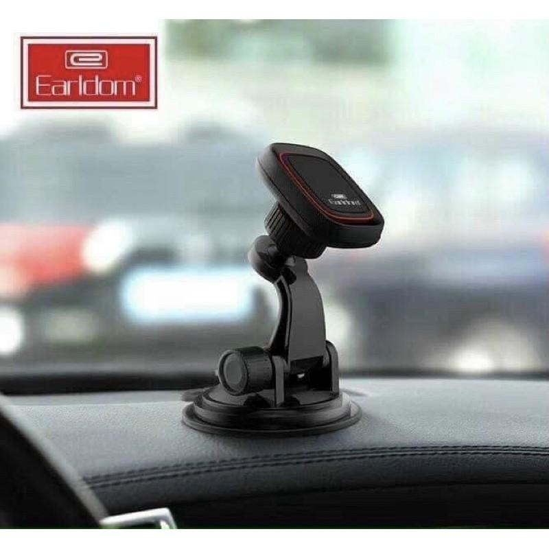 Kẹp điện thoại trên ô tô, Hít chân không từ tính nam châm điện thoại trên xe hơi chắc chắn dễ dùng Earldom EH47 KLH