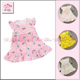 Váy đầm cho bé gáitrẻ em hoa nhí XUẤT HÀN [Top Sale] Đầm váy hè cho bé gáithun cotton dáng xòe của trẻ em hoa nhí