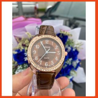 [Freeship] Đồng hồ đeo tay nữ chính hãng Bolun dây da, mặt vuông đính đá chống nước Bolun thumbnail