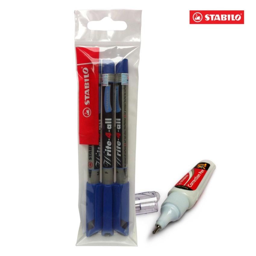 Bộ 3 cây bút kỹ thuật STABILO Write-4-All (M/F/S) (xanh) + bút xoá Correction Pen CPS88 - 9972624 , 489685938 , 322_489685938 , 155000 , Bo-3-cay-but-ky-thuat-STABILO-Write-4-All-M-F-S-xanh-but-xoa-Correction-Pen-CPS88-322_489685938 , shopee.vn , Bộ 3 cây bút kỹ thuật STABILO Write-4-All (M/F/S) (xanh) + bút xoá Correction Pen CPS88